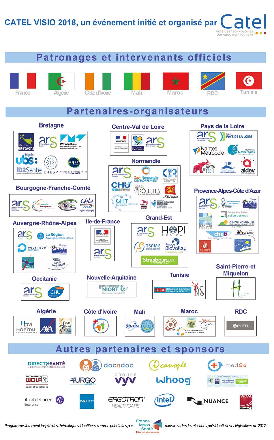 Partenaires Catel Visio 2018 - Bonnes pratiques du numérique en santé